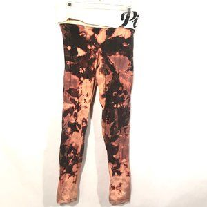 PINK  X CUSTOM Acid Wash Black Leggings Statement